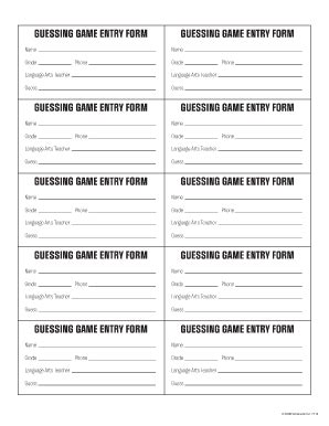 printable entry form template free printable entry form fill printable
