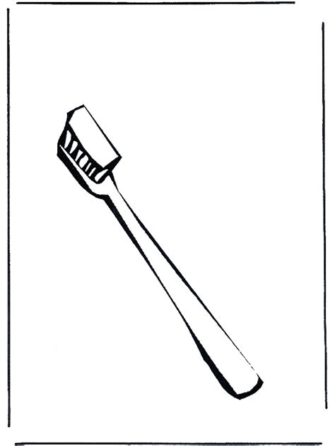 free coloring pages of tooth and brush