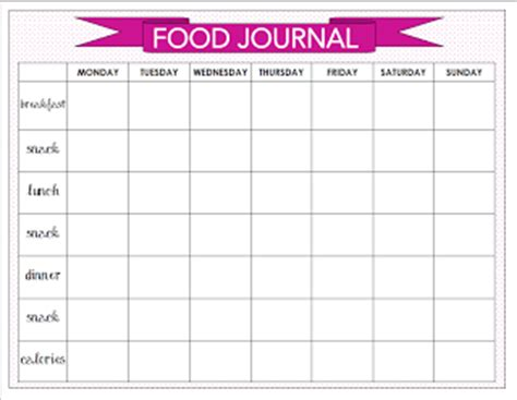printable food journal calorie counter food journal and calorie counter online library ebooks read