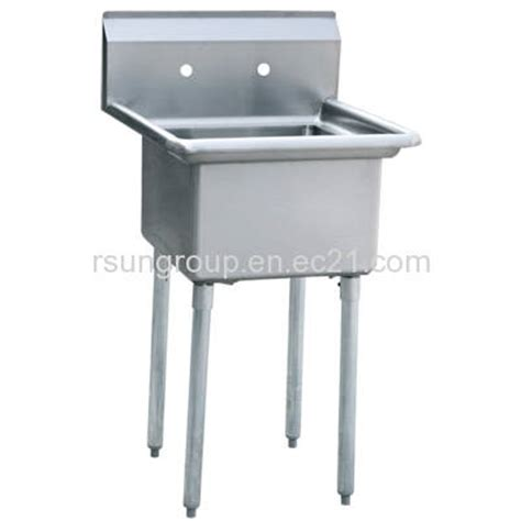 Commercial Stainless Steel Kitchen Sink by One Compartment Stainless Steel Commercial Kitchen Sink