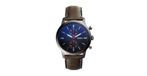 Fossil Fs5378 Original townsman 44mm chronograph gray leather fossil