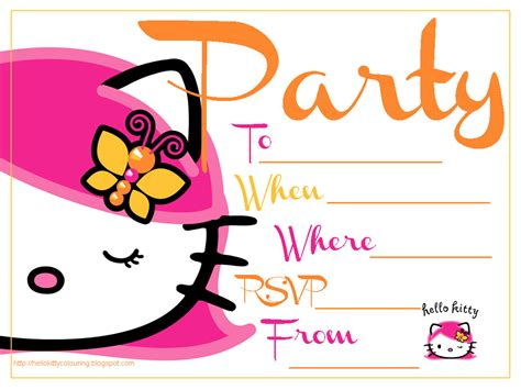 hello kitty printable party decorations free hello kitty free invitation templates clipart best