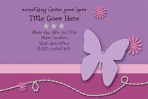 Invitations Templates by Scrappers Delight Free Invitation Templates