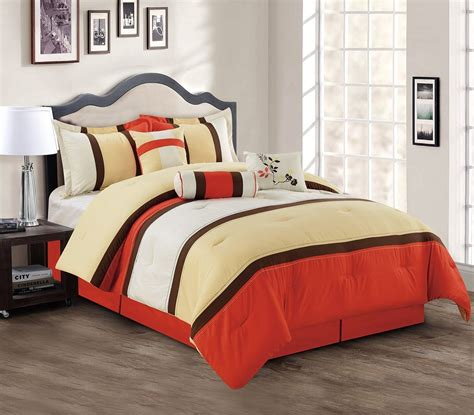 burnt orange bedding bright to burnt orange and brown comforter bedding sets