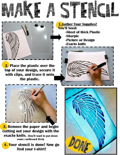 How To Make Stencil Paper For - diy tutorial diy stencil make a stencil then arm