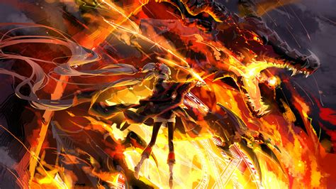 wallpaper girl on fire fire dragon fire dragon wallpapers tk z auw dragons