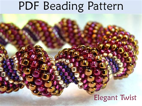beading pdf twist pdf beading pattern by simplebeadpatterns on