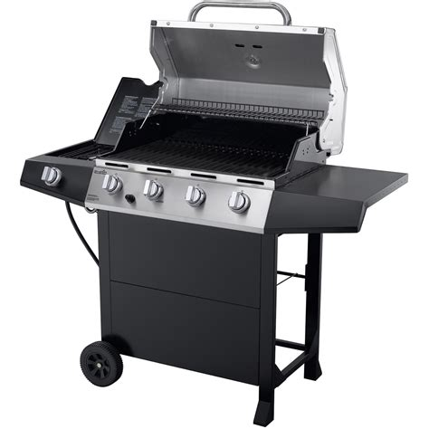 Gas Barbeque W Side Burner Pemanggang Barbeque Fh 12068 3 char broil 4 burner gas grill bbq with side burner stainless steel barbeque new ebay