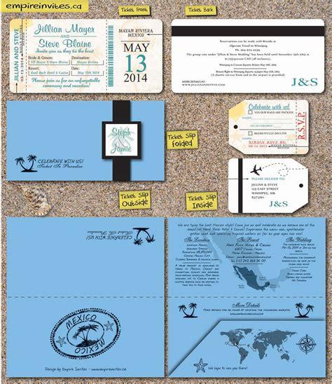 canadian destination wedding invitations custom destination boarding pass wedding invitations canada empire invites