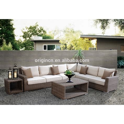 Outdoor Patio Furniture Sectionals Newly Arrival Luxury Comfortable Cube Garden Furniture Outdoor Rattan 7 Seater Sofa Set Buy 7