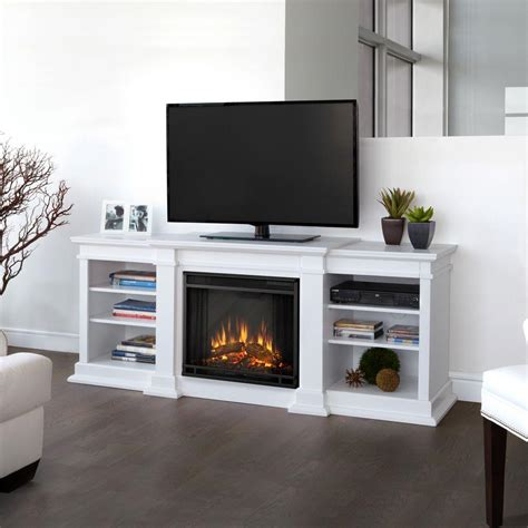 72 Media Fireplace by Real Fresno 72 In Media Console Electric Fireplace