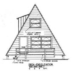 a frame cabin plans free free a frame house plan with deck