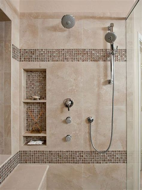 bathroom shower tile ideas photos bath remodeling vanity floor wall tile accents moen