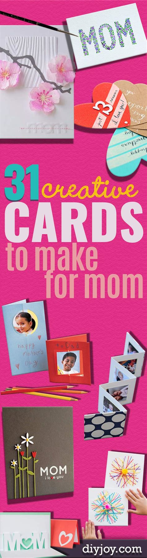 handmade mothers day cards step by step 31 diy mother s day cards diy joy