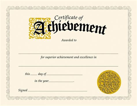 templates for certificates of achievement certificate of achievement templates loving printable