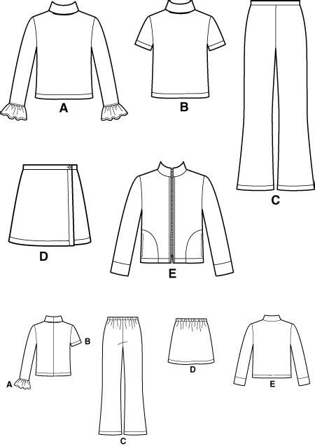 pattern review pattern sales new look 6210 girls zip front jacket wrap skirt bootleg