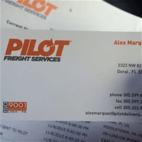 pilot freight services couriers delivery services 2323 nw 82nd ave doral fl phone
