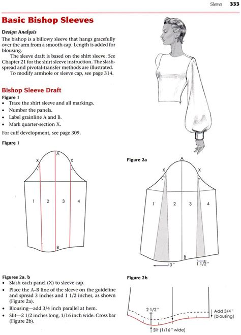 pattern making of sleeves bishop sleeves patrones pinterest sewing patterns