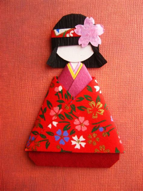 How To Fold Paper For Paper Dolls - japanese origami paper doll mei