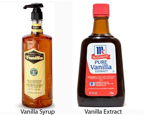Vanilla Outher vanilla syrup vs vanilla extract thosefoods