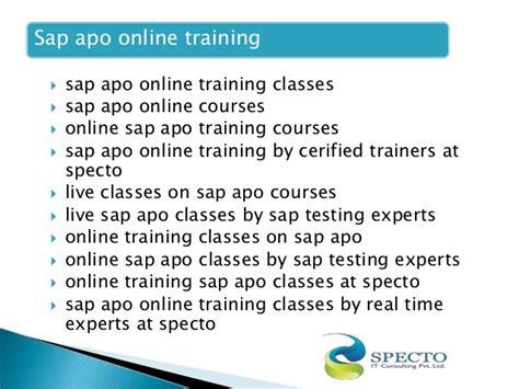 tutorial sap apo sap apo online training in london