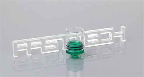 Glass Dip Size 510 2 43 large size glass abs hybrid 510 drip tip 34 3mm clear green at fasttech worldwide
