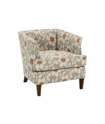 fabric upholstered small tub chair w tapered