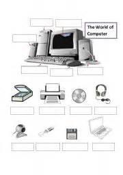 english worksheet computer 180 s parts