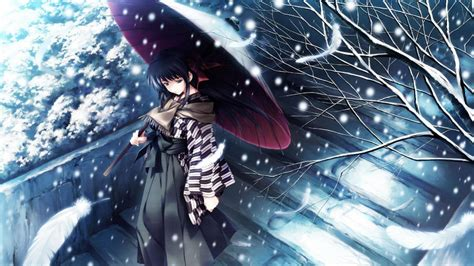 anime background winter anime wallpapers wallpaper cave