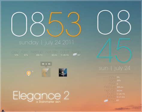 weather themes in gmail rainmeter elegance 2 by lilshizzy on deviantart