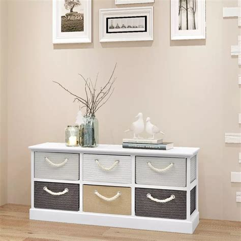 6 storage bench vidaxl storage bench 6 drawers wood vidaxl com