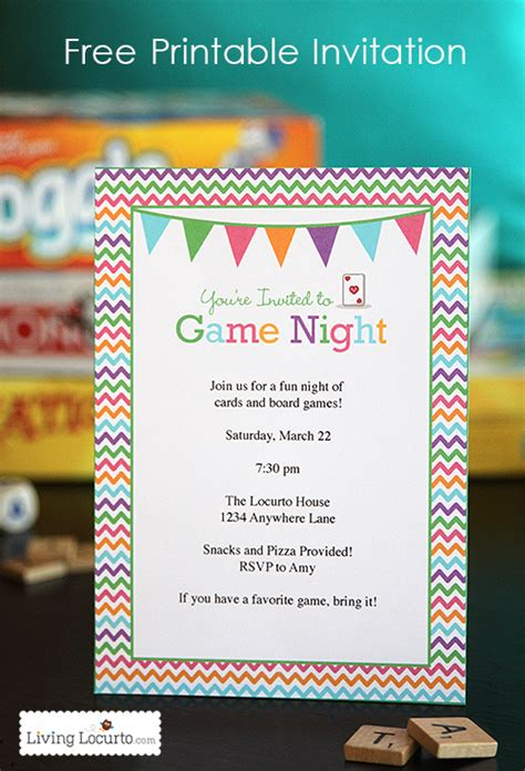 printable evening invitations game night free printable party invitation game night