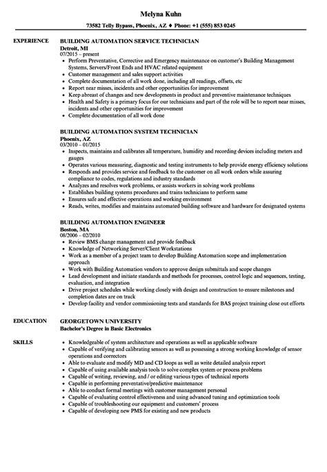 Building Resume by Building Automation Resume Sles Velvet