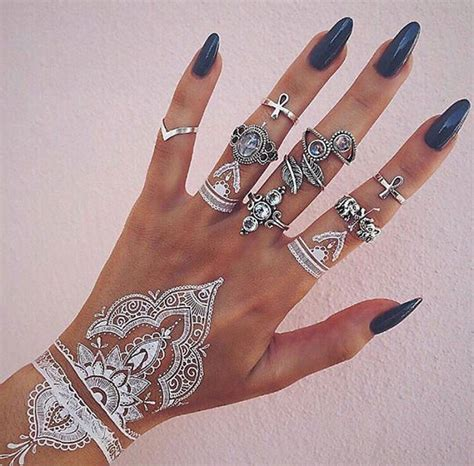 instagram tattoo temporary 30 stunning white henna inspired tattoos that look like