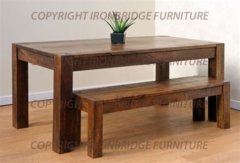 rustic dining table with bench dining table with bench rustic 187 dining room decor ideas
