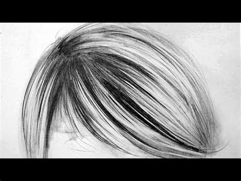 easy way to draw hairstyles how to draw realistic hair 3 easy steps youtube
