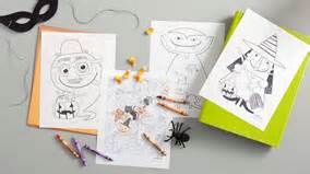hallmark coloring pages halloween craft ideas hallmark