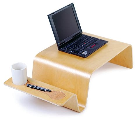wooden desk for laptop review and photo