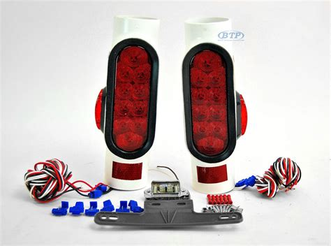 led boat trailer light kit led pipe light kit with led side markers for boat trailers