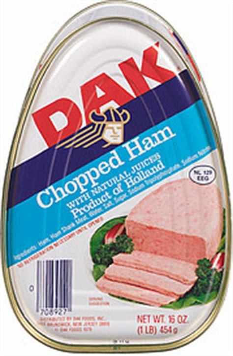 Dak Ham Shelf by Dak Canned Ham Chopped W Juices 16 0 Oz Nutrition
