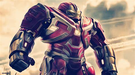 iron hulkbuster avengers infinity war artwork hd