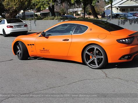 orange maserati maserati granturismo s orange and carbon wrap