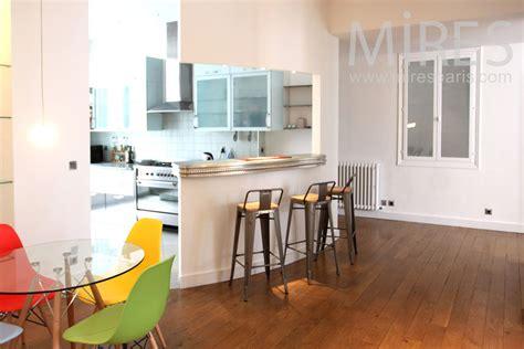 Cuisine Couloir Ouverte Sur Salon by Cuisine Ouverte Sur Le Couloir C1349 Mires