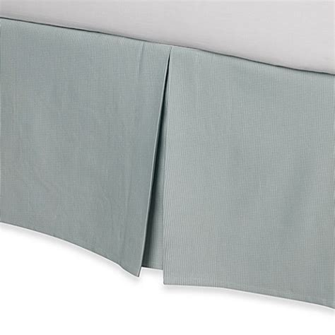 aqua bed skirt real simple 174 linear bed skirt in aqua bed bath beyond