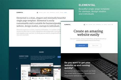 bootstrap themes free minimal elemental minimal elegant theme bootstrap themes on