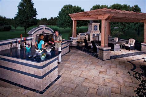 Unilock Outdoor Kitchens outdoor kitchen by unilock benson co rockford il