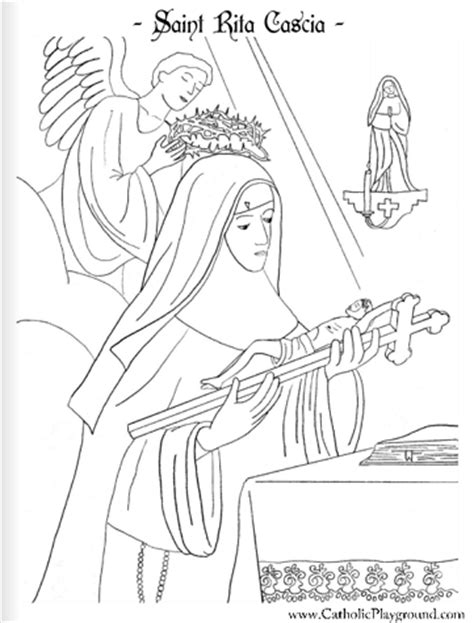 saint rita coloring pages coloring pages