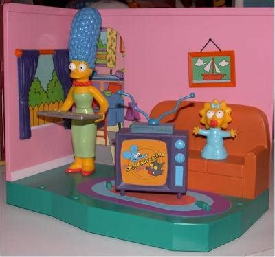 simpsons living room the simpsons living room playset with exclusive marge