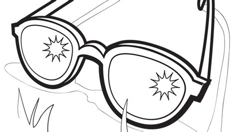 coloring page sunglasses summer series sunglasses grandparents com
