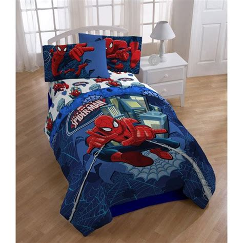 Marvel Ultimate Spiderman Full Comforter Sheet Bedding Set Marvel Bedding Sets